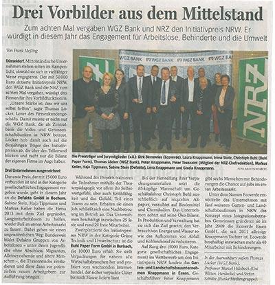 NRZ über Initiativepreis NRW 2015