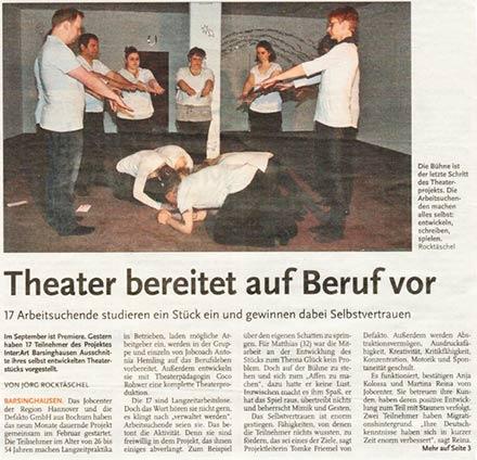 Calenberger Zeitung über inter:Art