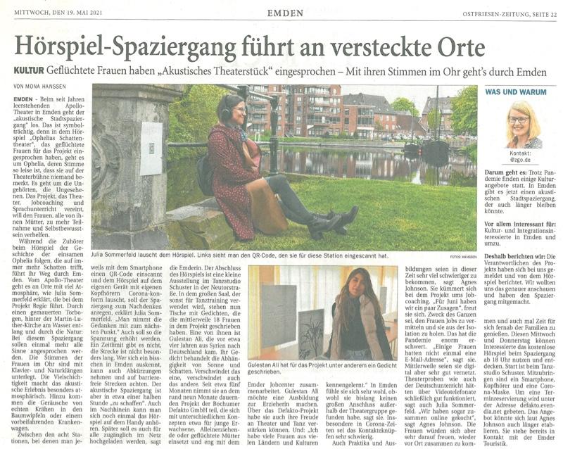 Ostfriesenzeitung über lebensArtplus