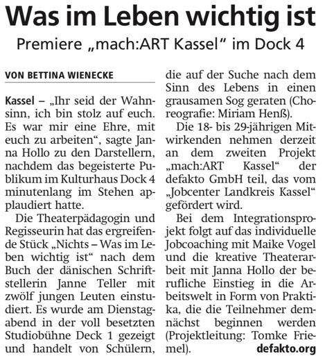 Presse machArt Kassel