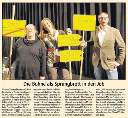 Der Patriot über das Projekt lebens:ART in Lippstadt