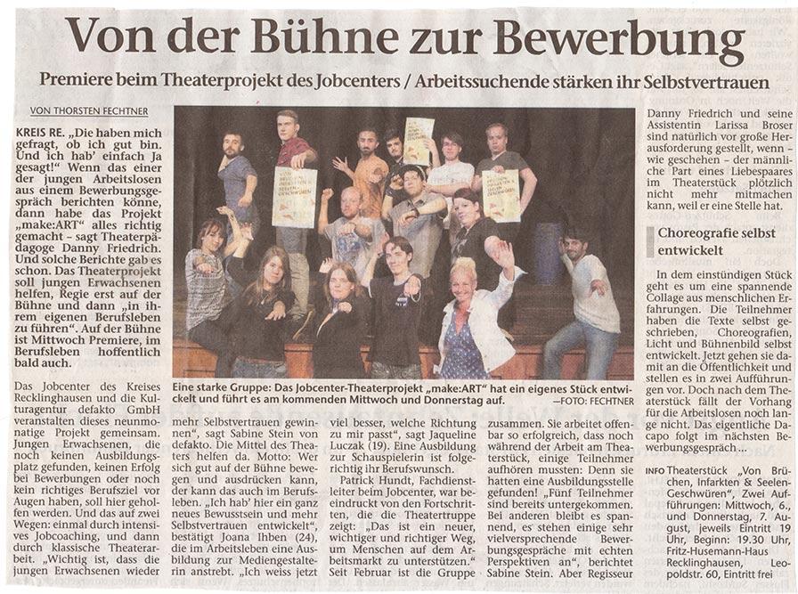 Waltroper Zeitung über make:ART Recklinghausen